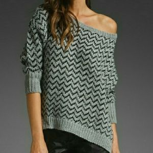 Joie Wool blend Chevron sweater